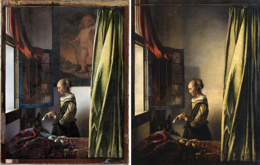 Johannes Vermeer, La liseuse à la fenêtre, vers 1657