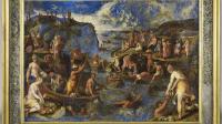 4 - La peche des perles aux Indes, huile sur lapis-lazuli, Tempesta RMN-Grand Palais (musee du Louvre) - Franck Raux