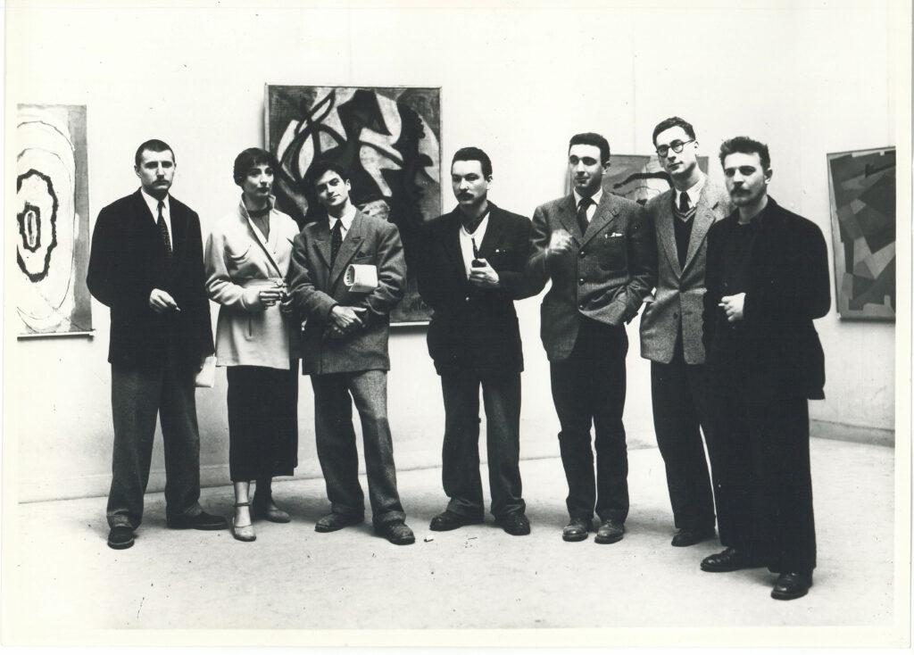 Le Groupe de l'Échelle vers 1950 (Cortot est le 3ème à partir de la droite)