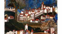 exposition-opus sectil-galerie gismondi - un paysage d'une cité seigneuriale italienne - XVIIème siècle - Copie